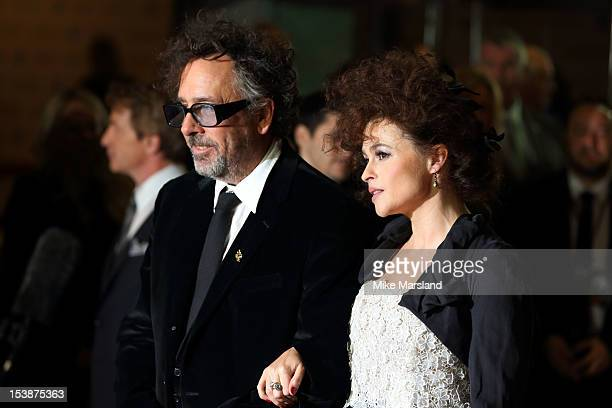 Tim Burton and Helena Bonham Carter attend the Premiere of 'Frankenweenie' at the opening of the BFI London Film Festival at Odeon Leicester Square...