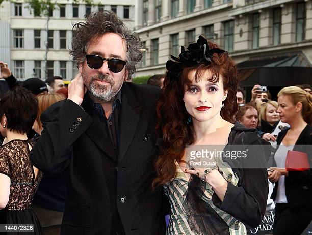 Tim Burton and Helena BonhamCarter attend the European premiere of Dark Shadows at Empire Leicester Square on May 9 2012 in London England