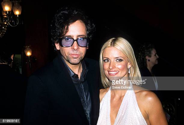 Tim Burton and Lisa Marie at premiere of 'Planet of the Apes' New York July 23 2001
