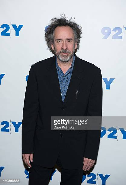 Tim Burton attends An Evening With The Director And Cast Of 'Big Eyes' Tim Burton Amy Adams And Christoph Waltz at 92nd Street Y on December 12 2014...