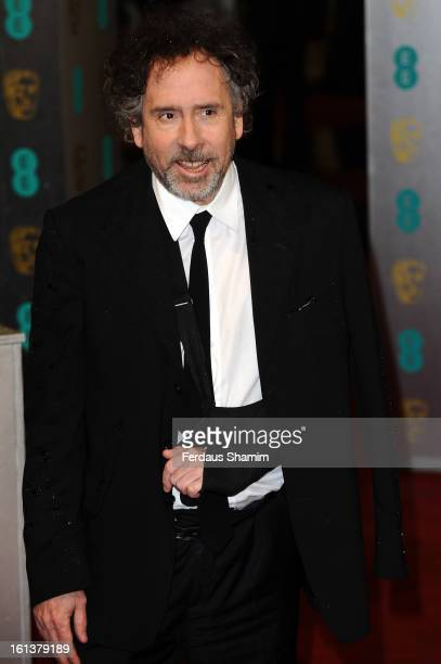 Tim Burton attends the EE British Academy Film Awards at The Royal Opera House on February 10 2013 in London England