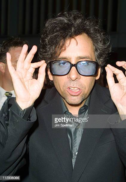 Tim Burton during 'Planet of the Apes ' New York Premiere at Ziegfeld Theater in New York City New York United States