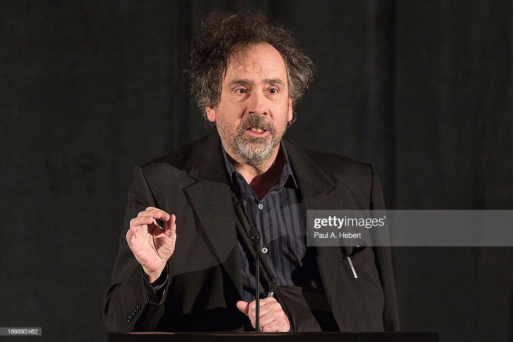 <a gi-track='captionPersonalityLinkClicked' href=/galleries/search?phrase=Tim+Burton&family=editorial&specificpeople=206342 ng-click='$event.stopPropagation()'>Tim Burton</a> receives the Best Animation award for 'Frankenweenie' at the 38th Annual Los Angeles Film Critics Association Awards held at the InterContinental Hotel on January 12, 2013 in Century City, California.