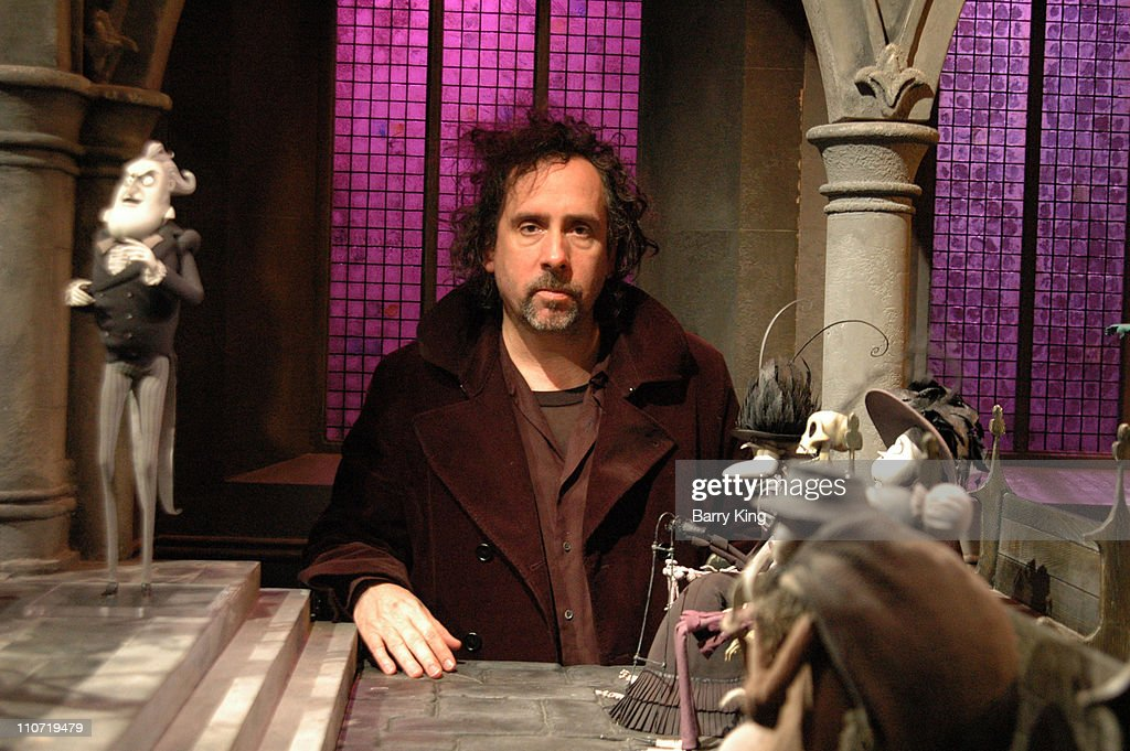 "Tim Burton Appearance at ""Corpse Bride"" Screening with Props and Sets from Film"