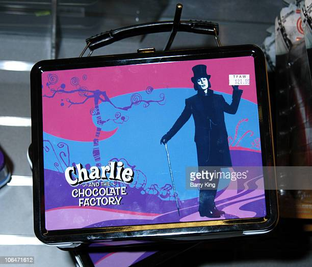 Tim Burton's 'Charlie the Chocolate Factory' lunchbox featuring Johnny Depp