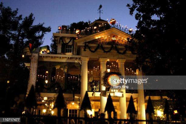 Tim Burton's 'Nightmare Before Christmas' Haunted Mansion opens at Disneyland Park in Anaheim California for its annual run Halloween through...