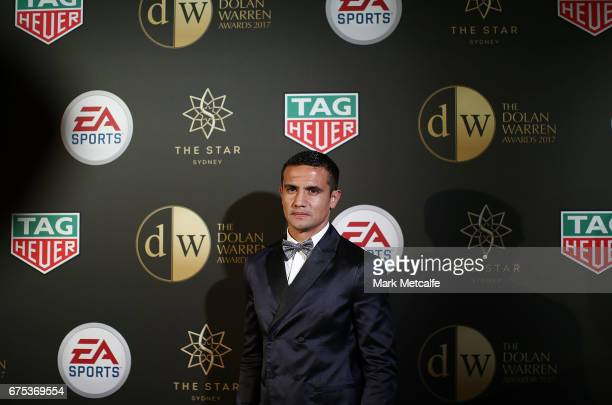 Tim Cahill arrives ahead of the FFA Dolan Warren Awards at The Star on May 1 2017 in Sydney Australia