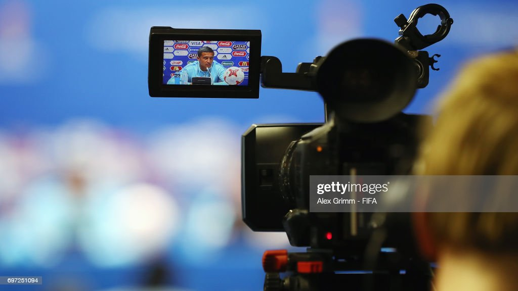 Tim Cahill attends an Australia press conference during the FIFA Confederations Cup Russia 2017 at Fisht stadium on June 18, 2017 in Sochi, Russia.
