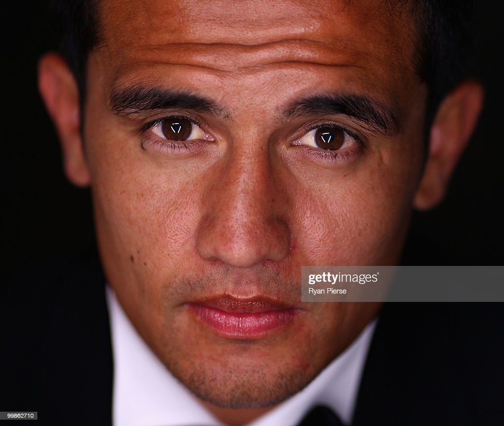 Tim Cahill of Australia and Everton poses before hosting a gala dinner in aid of the Tim Cahill Cancer Fund for Children at the Hilton Hotel on May 18, 2010 in Sydney, Australia.