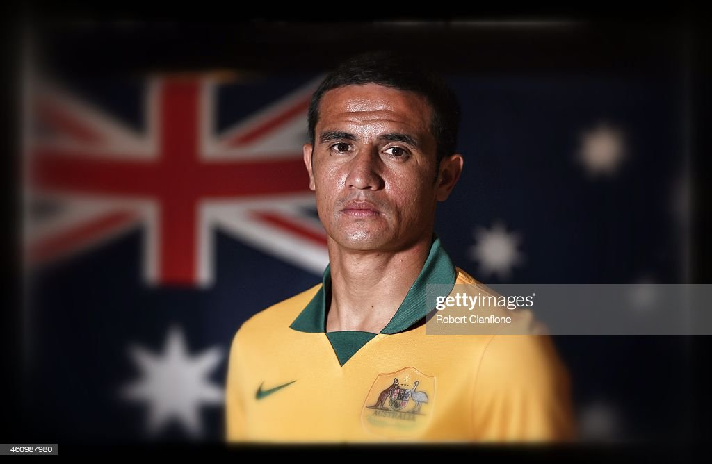 Tim Cahill of Australia poses during an Australian Socceroos headshot session at the InterContinental Hotel, on January 3, 2015 in Melbourne, Australia.