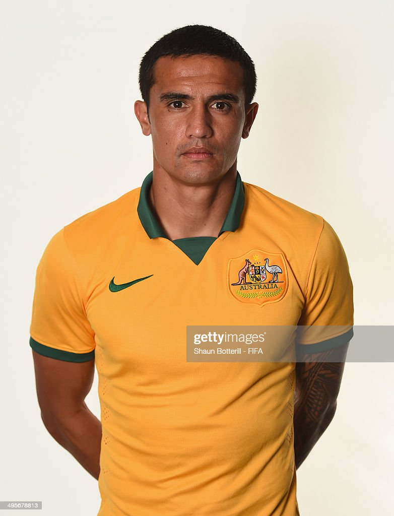 Tim Cahill of Australia poses during the official FIFA World Cup 2014 portrait session on June 4, 2014 in Vitoria, Brazil.