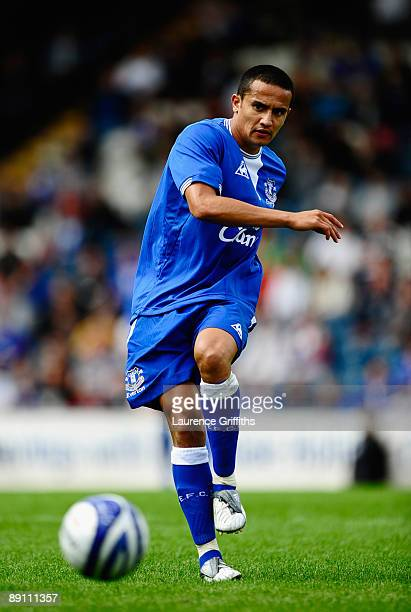 Tim Cahill of Everton in action during the Pre Season Friendly match between Rochdale and Everton on July 18 2009 in Rochdale England