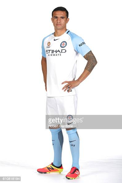 Tim Cahill of Melbourne City poses during the 206/17 ALeague media day at AAMI Park on September 28 2016 in Melbourne Australia