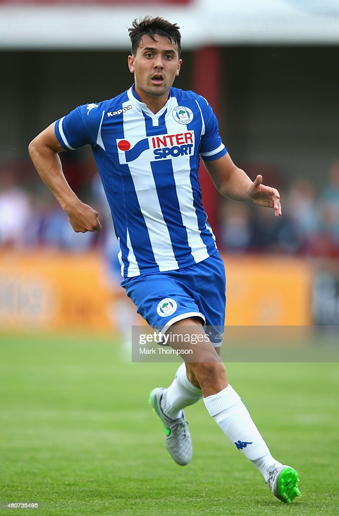 Tim Chow of Wigan Athletic in action during the pre season friendly between Altrincham and Wigan Athletic at the J Davidson stadium on July 14 2015...