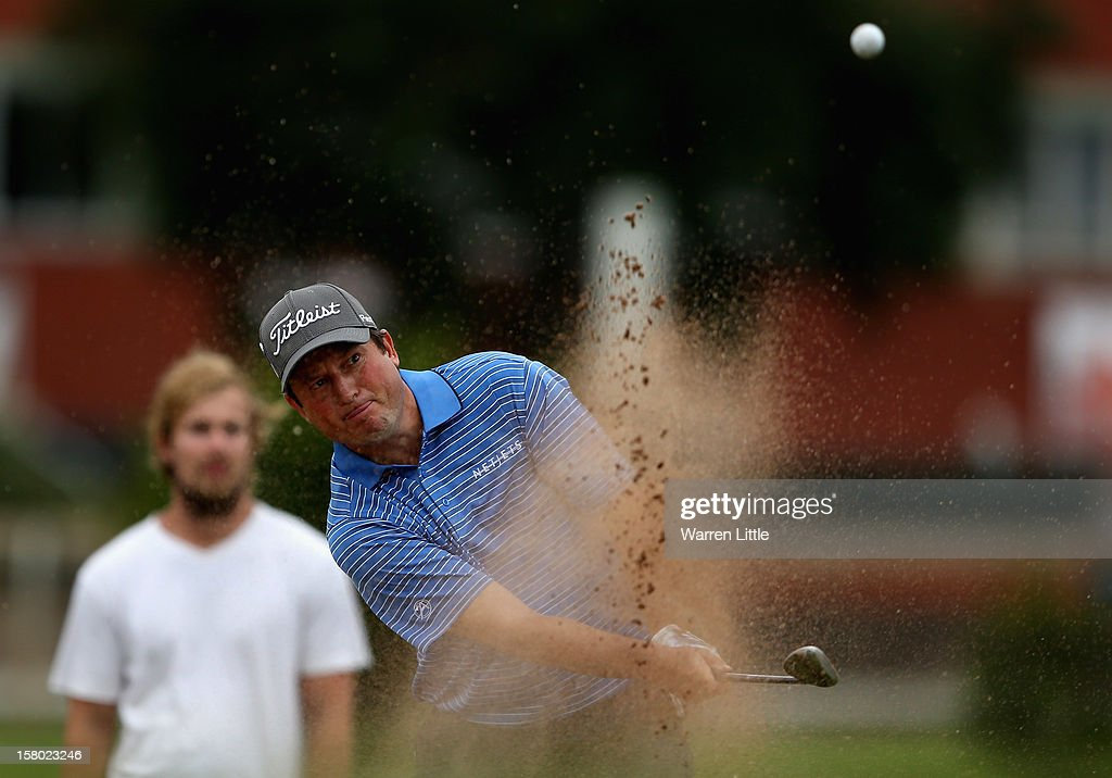 Tim Clark of South Africa plays onto the 17th green during the second round of The Nelson Mandela Championship presented by ISPS Handa at Royal Durban Golf Club on December 9, 2012 in Durban, South Africa.