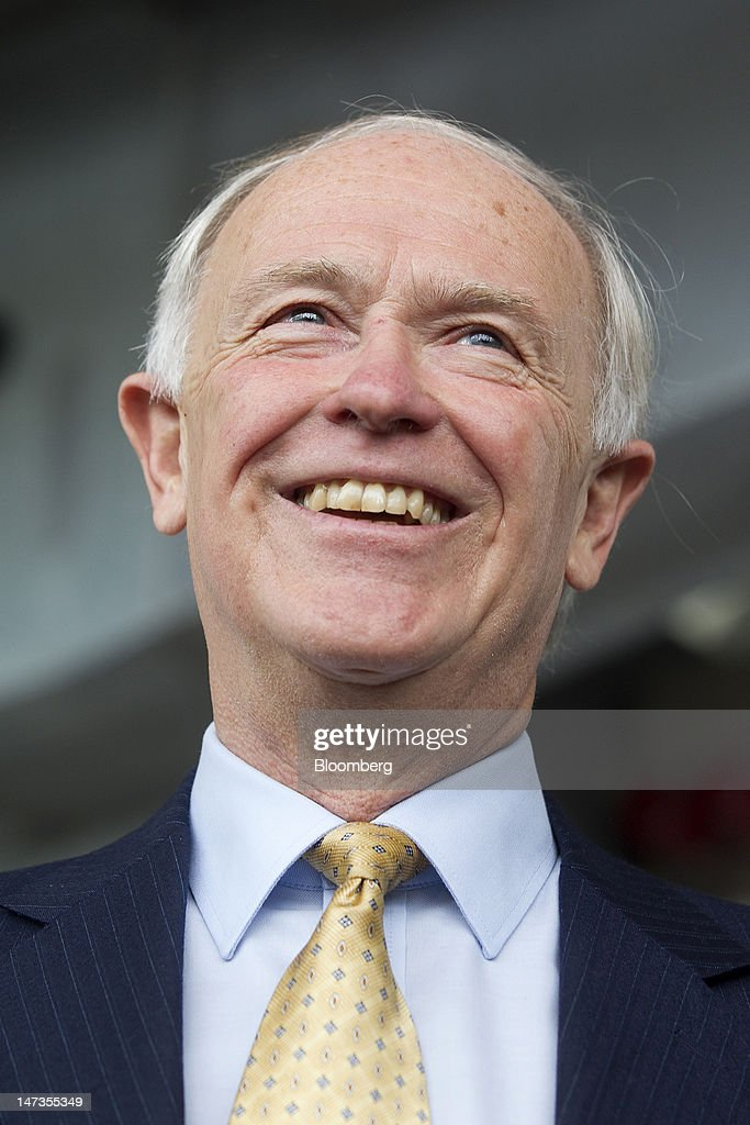 <a gi-track='captionPersonalityLinkClicked' href=/galleries/search?phrase=Tim+Clark+-+Businessman&family=editorial&specificpeople=13430624 ng-click='$event.stopPropagation()'>Tim Clark</a>, president of Emirates, reacts during the opening of a new cable car crossing above the River Thames, in London, U.K., on Thursday, June 28, 2012. The cable car system, operated by, will run between Greenwich Peninsula and the Royal Victoria Docks. Photographer: Simon Dawson/Bloomberg via Getty Images