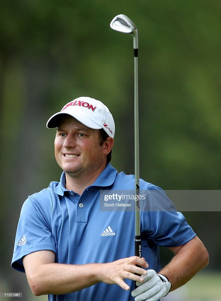 Tim Clark watches his shot from the rough on the fifth hole during the second round of the 2006 US Open Championship at Winged Foot Golf Club on June...