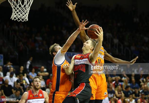 Tim Coenraad of the Hawks shoots for the basket during the round 18 NBL match between the Illawarra Hawks and the Cairns Taipans at the Wollongong...
