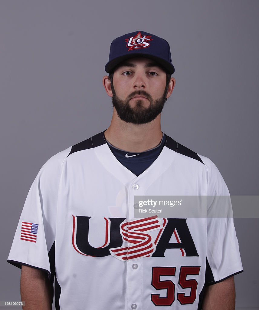 Tim Collins #55 of Team USA poses for a headshot for the 2013 World Baseball Classic on Monday, March 4, 2013 at Salt River Fields at Talking Stick in Scottsdale, Arizona.