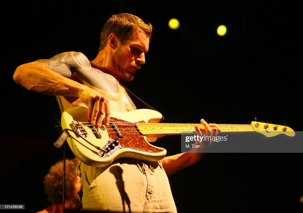 Tim Commerford of Rage Against The Machine during Coachella Valley Music and Arts Festival - Day 3 - Rage Against The Machine at Empire Polo Field in Indio, California, United States.