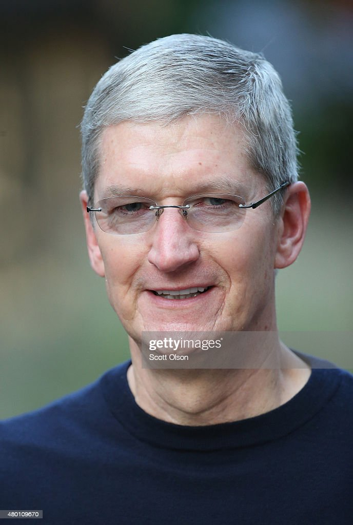 Tim Cook chief executive officer of Apple Inc attends the Allen Company Sun Valley Conference with Pam Zaslav on July 9 2015 in Sun Valley Idaho Many...