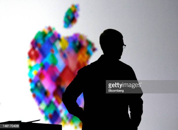Tim Cook chief executive officer of Apple Inc speaks at the Apple Worldwide Developers Conference in San Francisco California US on Monday June 11...