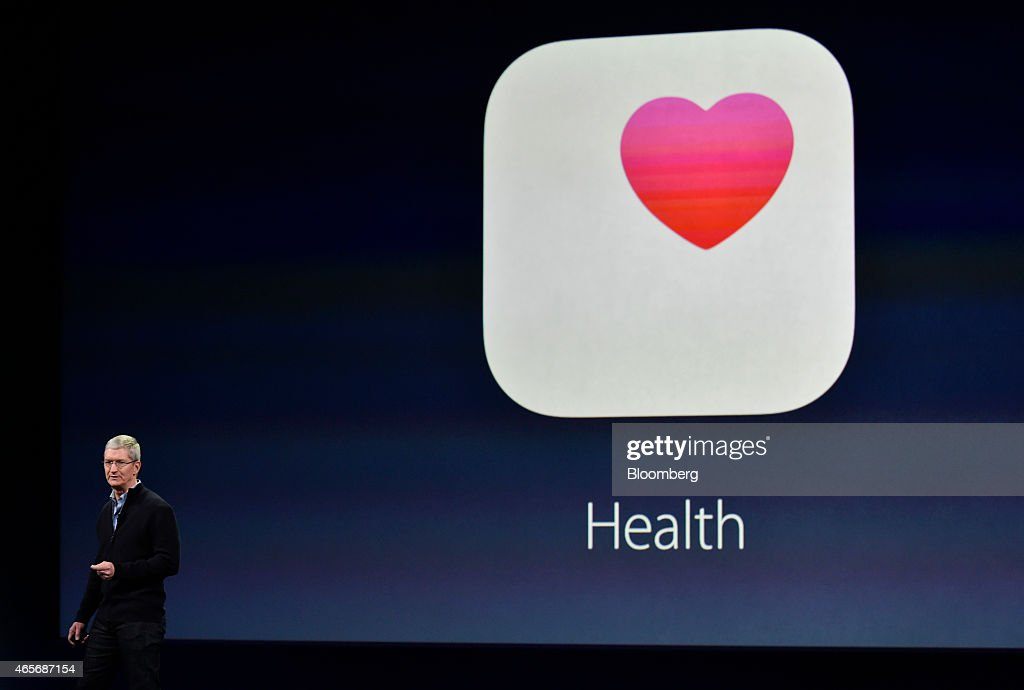 Tim Cook chief executive officer of Apple Inc speaks during the Apple Inc Spring Forward event in San Francisco California US on Monday March 9 2015...