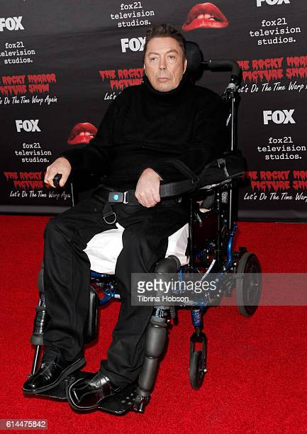 Tim Curry attends the premiere of Fox's 'The Rocky Horror Picture Show Let's Do The Time Warp Again' at The Roxy Theatre on October 13 2016 in West...