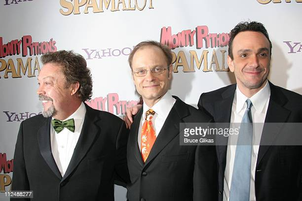 Tim Curry David Hyde Pierce and Hank Azaria during Monty Python's 'Spamalot' Opening Night on Broadway After Party at Roseland Ballroom in New York...
