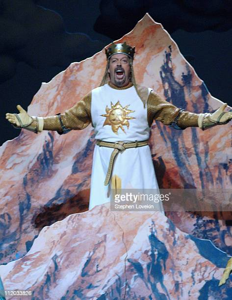 Tim Curry performing a scene from 'Monty Python's Spamalot'