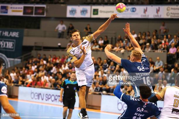 Tim Dahlhaus of Aix during Lidl Star Ligue match between Fenix Toulouse and Pays D'aix Universite Club on September 13 2017 in Toulouse France