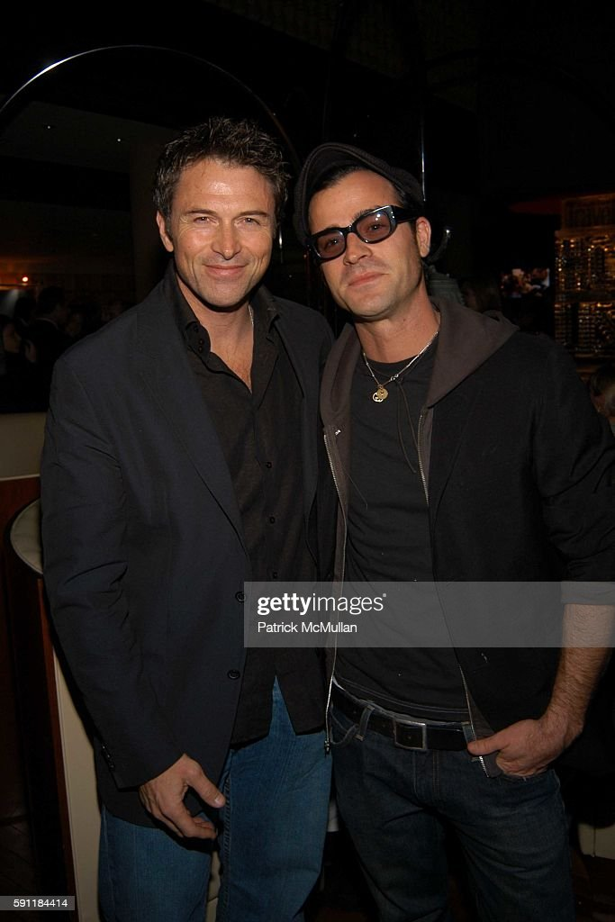 Tim Daly and Justin Theroux attend Conde Nast Traveler Hot List party at Megu on April 27 2005 in New York City
