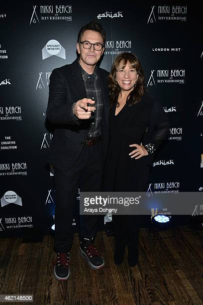 Tim Daly and Robin Bronk attend The Creative Coalition's Spotlight Initiative Gala At Nikki Beach At Riverhorse On Main 2015 Park Cityat Riverhorse...