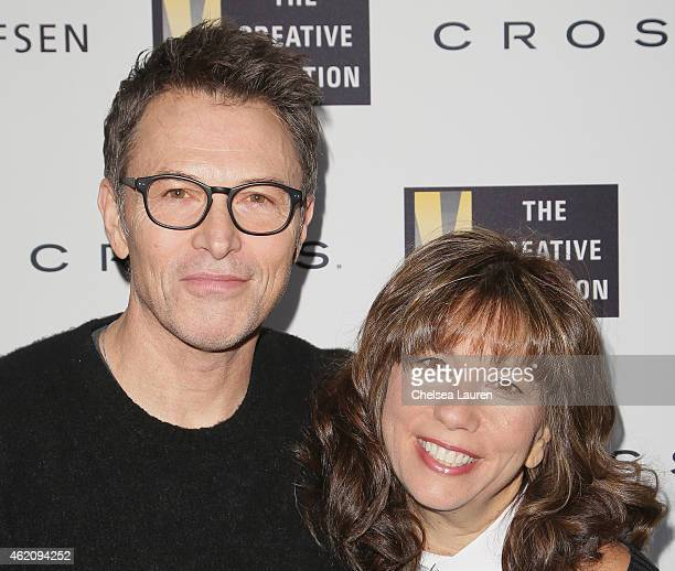 Tim Daly and The Creative Coalition CEO Robin Bronk attends The Creative Coalition's 'Teachers Making A Difference' Awards Luncheon at Bang And...