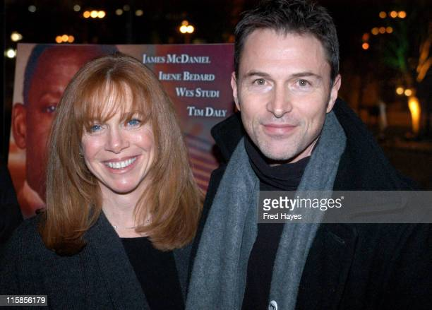 Tim Daly and wife Amy Van Nostrand during 2004 Sundance Film Festival 'Edge of America' Premiere at Abranavel Hall in Park City Utah United States