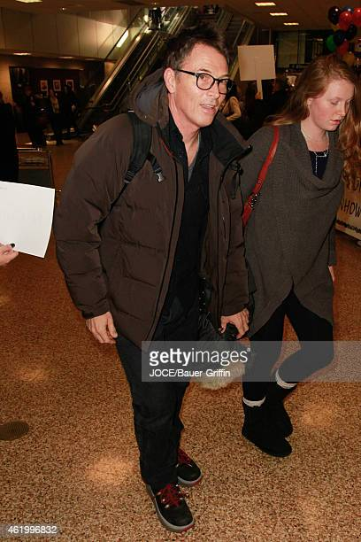 Tim Daly is seen at Salt Lake City Airport on January 22 2015 in Park City Utah