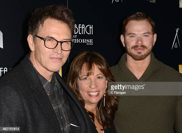 Tim Daly Robin Bronk and Kellan Lutz attend The Creative Coalition's Spotlight Initiative Gala At Nikki Beach At Riverhorse On Main on January 24...
