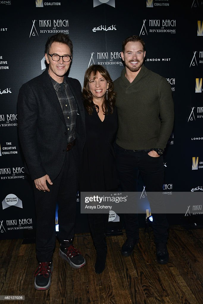 Tim Daly, Robin Bronk and Kellan Lutz attends The Creative Coalition's Spotlight Initiative Gala At Nikki Beach At Riverhorse On Main - 2015 Park Cityat Riverhorse On Main on January 24, 2015 in Park City, Utah.
