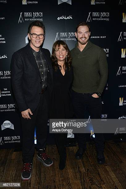 Tim Daly Robin Bronk and Kellan Lutz attends The Creative Coalition's Spotlight Initiative Gala At Nikki Beach At Riverhorse On Main 2015 Park Cityat...