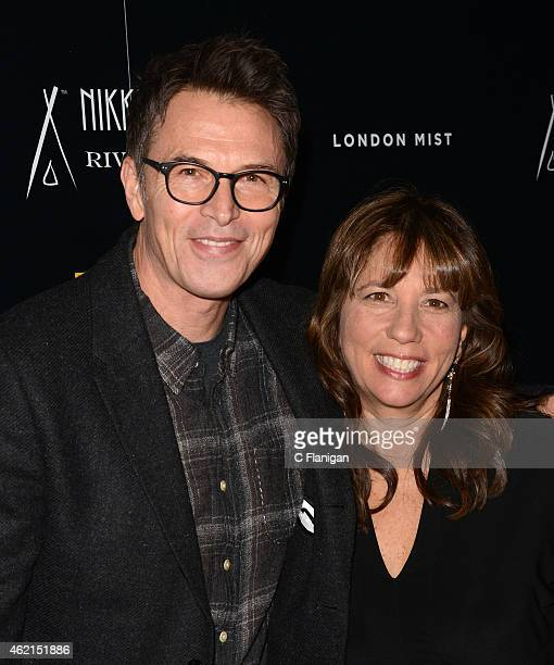 Tim Daly Robin Bronk attend The Creative Coalition's Spotlight Initiative Gala At Nikki Beach At Riverhorse On Main on January 24 2015 in Park City...