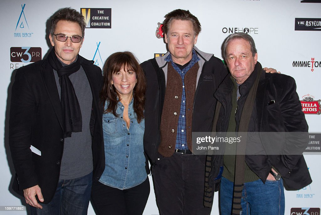 Tim Daly, Robin Bronk, Bill Pullman and Paul Austin attend the Creative Coalition Luncheon at Nikki Beach pop-up lounge & restaurant on January 19, 2013 in Park City, Utah.