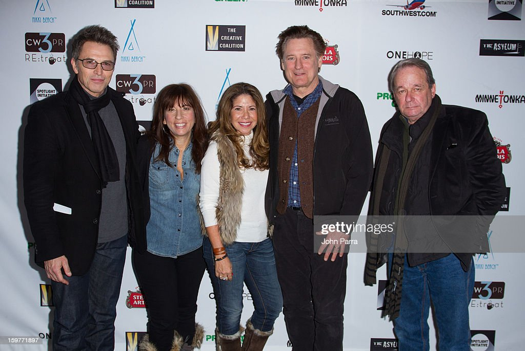 Tim Daly, Robin Bronk, Lucia Penrod, Bill Pullman and Paul Austin attend the Creative Coalition Luncheon at Nikki Beach pop-up lounge & restaurant on January 19, 2013 in Park City, Utah.