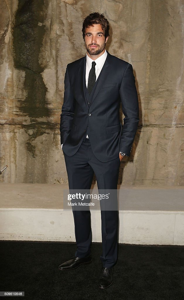 Tim Derickx arrives ahead of the Myer AW16 Fashion Launch on February 11, 2016 in Sydney, Australia.