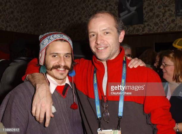 Tim Dirdamal and Juan Carlos Rulfo during 2006 Sundance Film Festival Alumni Reception at Filmmaker's Lodge in Park City Utah United States