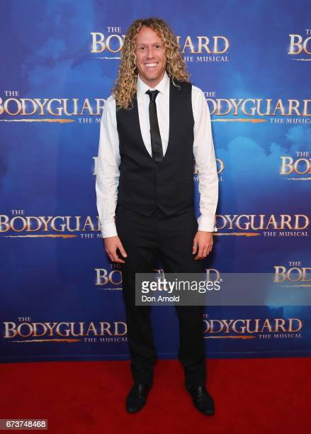 Tim Dormer arrives ahead of opening night of The Bodyguard The Musical at Lyric Theatre Star City on April 27 2017 in Sydney Australia