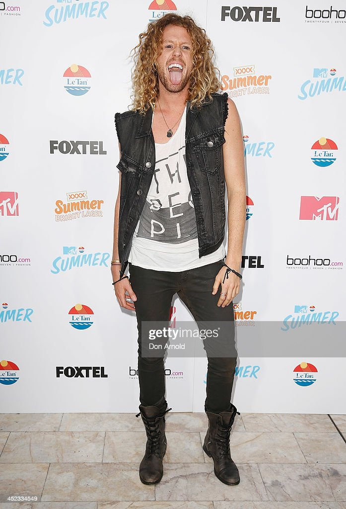 Tim Dormer poses at MTV Summer at Sydney Town Hall on November 28, 2013 in Sydney, Australia.