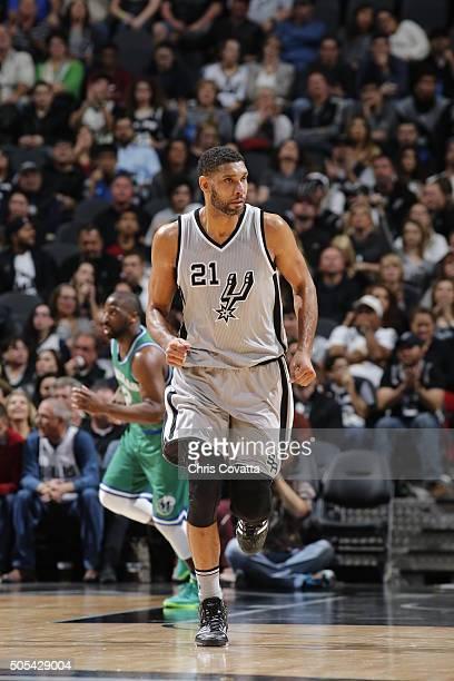 Tim Duncan of the San Antonio Spurs against the Dallas Mavericks on December 17 2016 at the ATT Center in San Antonio Texas NOTE TO USER User...