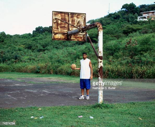 Tim Duncan of the San Antonio Spurs poses for a 2005 photo on the island of St Croix US Virgin Islands NOTE TO USER User expressly acknowledges that...
