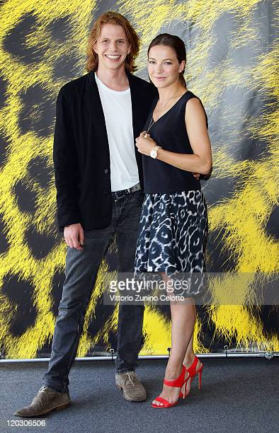 Tim Fehlbaum and Hannah Herzsprung attend the Hell photocall during the 64th Festival del Film di Locarno on August 4 2011 in Locarno Switzerland