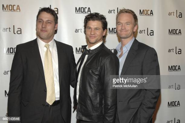Tim Fleming David Burtka and Neil Patrick Harris attend Art LA 2009 VIP Opening Night Reception Benefiting MOCA at Barker Hangar on January 22 2009...